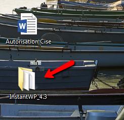 """Etape 1: Ouvrir le dossier """"InstantWP_4.3"""""""