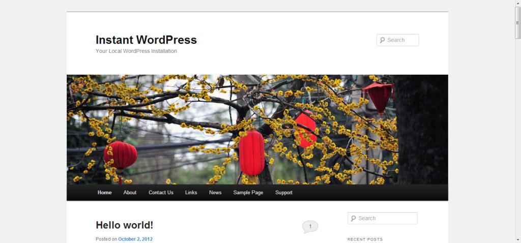 Votre site WordPress installé en local