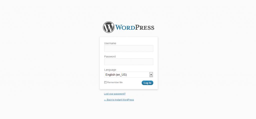 Connexion à votre backoffice WordPress