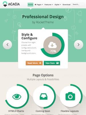 Aperçu du Design du Thème WordPress Acacia